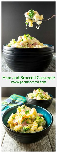 This Ham and Broccoli Casserole is amazing, easy and delicious! Hearty chunks of ham, broccoli florets and pasta in a creamy cheese sauce - Perfect!