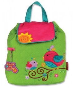 Stephen Joseph Quilted Backpack- Bird