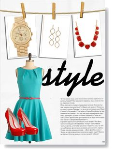 """""""teal & red"""" by just-whit on Polyvore"""