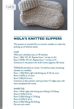 Knitted Socks Free Pattern, Knit Vest Pattern, Knitting Socks, Baby Knitting, Animal Knitting Patterns, Knitting Paterns, Knitting Ideas, Knitted Slippers, Knitted Hats