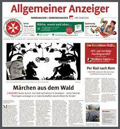 Artikel vom 21.09.2019 im Allgemeinen Anzeiger für Nordhausen und Sondershausen in Thüringen. Comic Books, Comics, Memes, Cover, Weimar, Grief, Adventure, Meme, Cartoons