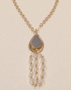 Druzy Tassel Necklace by guadalupejewelry on Etsy, $110.00