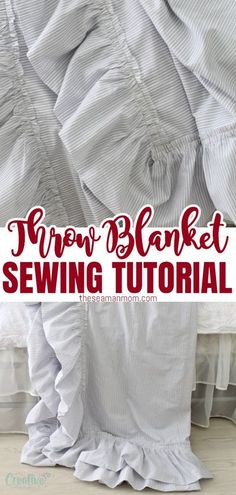 Ever thought about sewing your own linen throw blanket? This quick and simple DIY throw blanket makes sewing a throw blanket a breeze, you'll be done in no time! #easypeasycreativeideas #sewing #sewingprojects #sewingtutorial #sewingforhome #sewingforbeginners #beginnersewingprojects #easysewingproject Easy Sewing Projects, Sewing Projects For Beginners, Sewing Hacks, Sewing Tutorials, Diy Throw Blankets, Diy Throws, Quilted Clothes, Sewing Clothes, Sewing Patterns Free