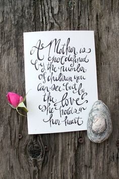 Definition of a Mother for Infertility, Miscarriage, Pregnancy and Child Loss 5x7 Folded Greeting Card, blank inside