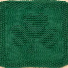 Bring some luck to your kitchen with this shamrock dishcloth. This knit dishcloth pattern is a solid design of a shamrock with three leaves and a stem. The stem curves slightly to the left. **All purchases are for a downloadable PDF file of the knitting pattern and not for the actual dishcloth.**