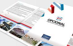 Projeto de criação de folder institucional para a construtora Opcional Engenharia em Curitiba.