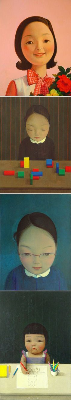Liu Ye. Beijing-based contemporary Chinese painter known for his bright-hued paintings of childlike female figures.