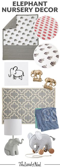 Love animals? Then you'll love our elephant nursery decor. Perfect for any boy's or girl's nursery, these styles all feature friendly elephants. From bedding and toys to decor, these baby-friendly picks will make one stylish nursery.