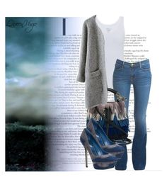 """Storm"" by queenvirgo on Polyvore featuring Majestic, Frame Denim, Chloé and Sergio Rossi"