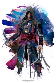 NEW Assassin's Creed Edward Kenway Abstract Art Canvas por j2artist
