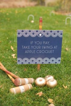 love the idea of including a lawn game