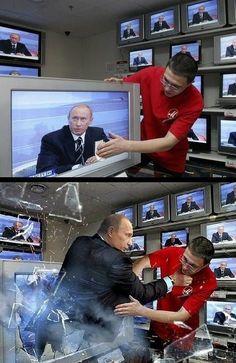 テレビに映っている人を見てから拭きましょう。