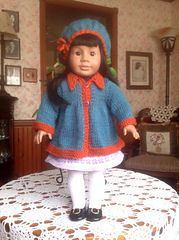 Ravelry: Spring Flared Sweater for American Girl Dolls pattern by Janet Longaphie