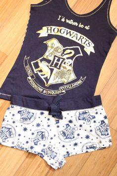 HARRY POTTER Ladies Pyjamas Primark HOGWARTS LETTER Vest Shorts Womens Pajamas