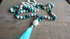 108 Mala Bead Necklace, Buddha Necklace, Prayer Necklace, Yoga Jewelry, Skullznbeadz Necklace by SkullzNBeadz on Etsy