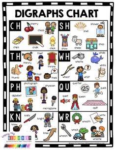 FREE worksheets digraphs for kindergarten practice