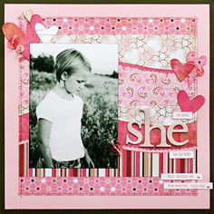 *She* featuring Bittersweet - Scrapbook.com BasicGrey - Bittersweet Collection