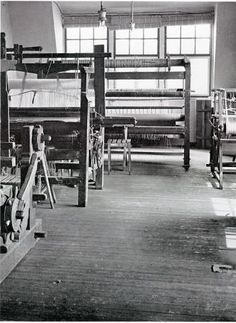 Weaving Workshop room at the Bauhaus in Weimar, ca. 1923