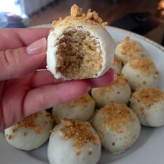 Pumpkin cream cheese cake balls
