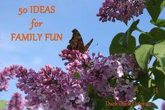 50 screen-free ideas for family fun.