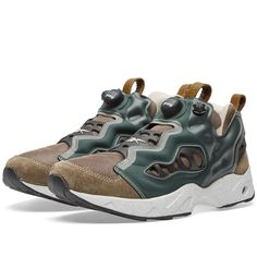 For 2016 Garbstore continue their collaboration with Reebok, applying contemporary details and directional designs to their classic running silhouettes. This season a new approach has been taken with the iconic Instapump Fury Road, changing up from the usual 'inside out' aesthetic Garbstore apply to the brand's classic silhouettes. The 90's runner features leather overlays, lightweight mesh uppers and the usual neoprene cage, sitting atop of a lugged outsole containing a '...