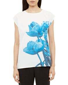 Ted Baker Blue Beauty Floral Print Top