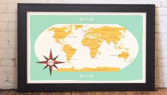 Makers/Creatives! How To Stop Worrying and Enjoy The Ride - a blog post with a wonderful talk by These Are Things. Shown: These Are Things' World Map (all photos via MakingIt.co) #maker #craft #design #inspiration #video #wmcfest #howto #advice #smallbiz #domestica