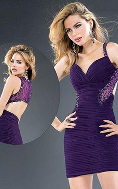 Favodresses.com is a professional women's dresses online shop,where you can find your favourite Marvelous Sheath Short Purple Dress.