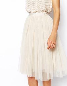 $104.74 Enlarge Needle & Thread Tulle Midi Skirt
