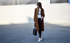 casual, long coat, trench, leather pants, mk, michael kors , style, street style, street fashion, ootd, look, style, inspiration, bloger, fashionist, stylist,