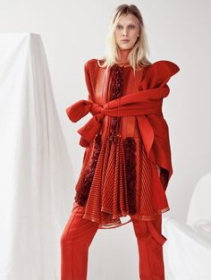 """A Study in Scarlet"" Juliana Schuring by Nathaniel Goldberg for Vogue China May 2015"