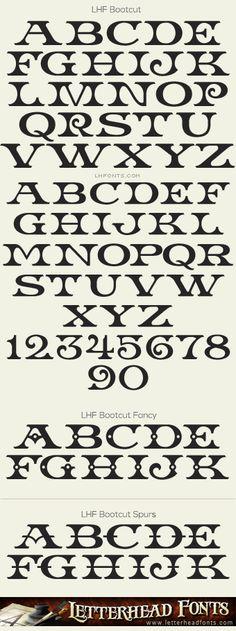 Letterhead Fonts / LHF Bootcut font set / Western Fonts