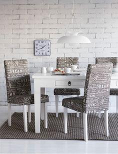 Kodin1, ruokailutila, Luoto-ruokapöytä, Francesco-tuoli, Taifuuni-valaisin.