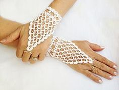 Ravelry: Fingerless Crochet Lacy Wedding Gloves pattern by Nez jewelry Crochet Wedding, Crochet Lace, Wedding Lace, Easy Crochet, Wedding Summer, Fingerless Gloves Crochet Pattern, Wedding Gloves, Lace Gloves, Bare Foot Sandals