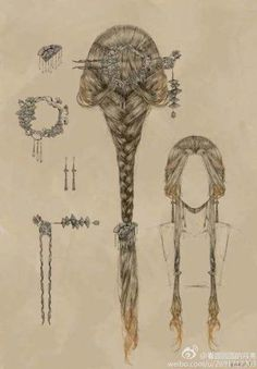 Nice for medieval drawing and fairies. Nice for medieval drawing and fairies. The post Romantic hair style. Nice for medieval drawing and fairies. Medieval Drawings, Romantic Hairstyles, Fashion Hairstyles, Fantasy Hairstyles, Fairy Hairstyles, Chinese Hairstyles, Medieval Hairstyles, Drawing Hairstyles, Gothic Hairstyles