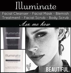 Younique's Facial Cleansers, Illuminate Clean and Illuminate Clear, are the perfect skin care products for your every day routine! Safe ingredients = healthier skin! www.youniqueproducts.com/prettylashes4you