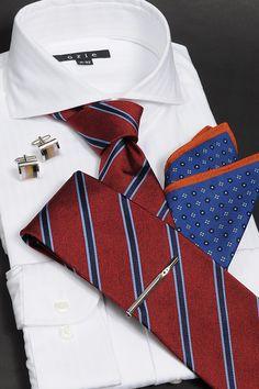 秋のタイドアップ shirt&tie