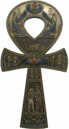 ANKH - A CHAVE DA VIDA  O significado do Ankh se liga fundamentalmente aos conceitos de vida e morte, ou melhor, de vida eterna. É neste sentido que ele é tradicionalmente representado com as divindades egípcias, sendo segurado pelo círculo como uma chave, uma chave que abriria os portões dos mundos da Vida e da Morte.   As pessoas carregavam este símbolo como um amuleto para a longevidade.