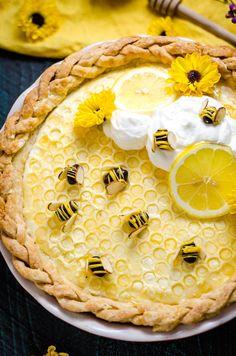 Honey Lemon Chiffon Pie - Host The Toast Yummy Treats, Sweet Treats, Yummy Food, Pie Dessert, Dessert Recipes, Honey Dessert, Lemon Chiffon Pie, Decoration Patisserie, Let Them Eat Cake