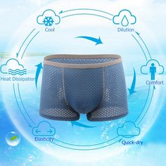 Mens Honeycomb Mesh U Convex Pouch Boxers Breathable Antibacterial Underwear Briefs 5 Colors at Banggood