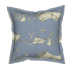 """Serama Throw Pillow featuring """"Whatever Happened to My Garden Clog?..."""" by ceanirminger 