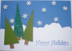 DIY Christmas Card: Happy Holidays handmade Christmas greeting card holiday Christmas DIY make your own paper stamp emboss