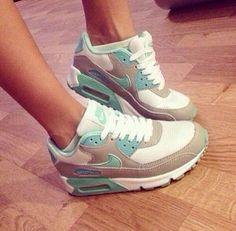 Nike air max. Teal. Gray