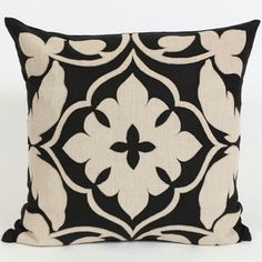 Shop for Wanderloot 20-inch Handmade Agra Linen Applique Accent Throw Pillow Cover (India). Get free delivery at Overstock.com - Your Online Home Decor Store! Get 5% in rewards with Club O! - 18792176