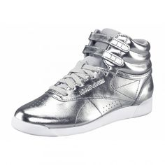 Reebok Freestyle Hi Metallic for Women Online Shop, Silver