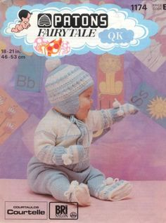 pdf pattern at a sale price - PDF Knitting Pattern - Baby Boy Knitting Patterns, Baby Patterns, Knitting Ideas, Free Knitting, Pram Sets, Baby Prams, Knitting Magazine, Vintage Knitting, Free Baby Stuff