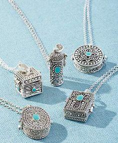 Prayer Box Charm Necklaces