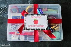 Care Package Ideas: Back to School Teacher Gift