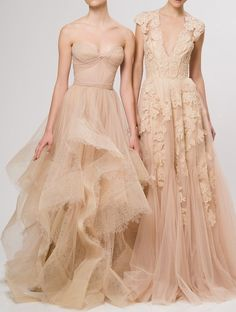 Gorgeous nude dresses for a.cocktail or engagement party!  Fullcircleeventi.com