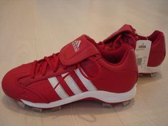 new arrival 6f7df 5bc2d Adidas Fastpitch II TPU Women s Softball Cleats Red Tacos De Softbol, Flag  Football, Tops